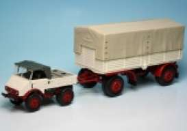 Unimog  - 1951 white/red - 1:43 - Minichamps - 499033920 - mc499033920 | The Diecast Company