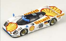 Porsche  - 1994 white/yellow/red - 1:43 - Spark - S1900 - spaS1900 | The Diecast Company