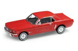 Ford  - 1964 red - 1:24 - Welly - welly22451r | The Diecast Company