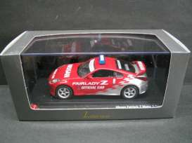 Nissan  - red/silver - 1:43 - J Collection - 13001pc - jc13001pc | The Diecast Company
