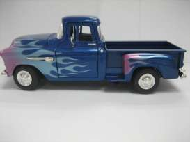 Chevrolet  - 1955 blue/flames - 1:24 - Motor Max - 73236bfl - mmax73236bfl | The Diecast Company