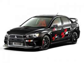 Mitsubishi  - Lancer Evolution X Ralliart 2007  - 1:24 - Aoshima - abk155441 | The Diecast Company