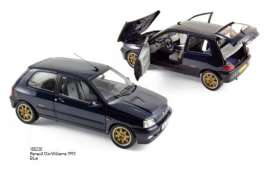 Norev - Renault  - nor185230 : 1993 Renault Clio Williams, blue