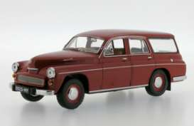 Warszawa  - 1960 dark red - 1:43 - Ixo Ist Collection - ixist081 | The Diecast Company