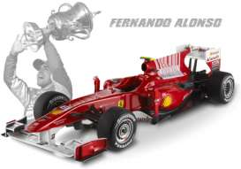 Ferrari  - F1 2010 F. Alonso 2010 red - 1:18 - Hotwheels Elite - mvT6257 - hwmvT6257 | The Diecast Company