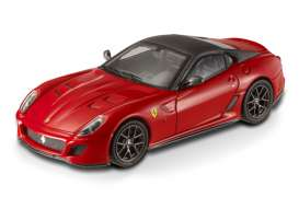 Ferrari  - 599 GTO 12 cylinder 2010 red w/grey roof - 1:43 - Hotwheels Elite - mvT6267 - hwmvT6267 | The Diecast Company