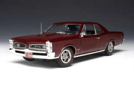 Pontiac  - 1966 burgundy red poly - 1:18 - Highway 61 - hw50777 | The Diecast Company