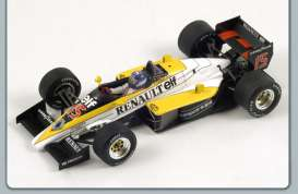 Renault  - 1985 yellow/white/black - 1:43 - Spark - S1702 - spaS1702 | The Diecast Company
