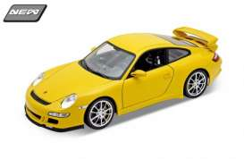 Porsche  - 2008 yellow - 1:18 - Welly - 18024y - welly18024y | The Diecast Company