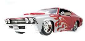 Chevrolet  - 1969 red/silver - 1:24 - Jada Toys - 96210 - jada96210 | The Diecast Company