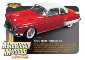 Oldsmobile  - 1950 red with white roof - 1:18 - Auto World - amm945 | The Diecast Company