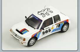 Peugeot  - 1984 white - 1:43 - Spark - S1266 - spaS1266 | The Diecast Company
