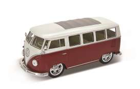 Volkswagen  - 1962 red/white - 1:24 - Welly - 22095LRr - welly22095LRr | The Diecast Company