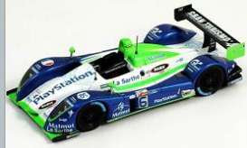 Pescarolo  - 2006 white/blue/green - 1:87 - Spark - s870002 - spas870002 | The Diecast Company