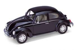 Volkswagen  - 1959 black - 1:24 - Welly - welly22436bk | The Diecast Company