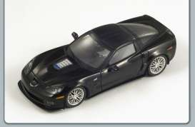 Corvette  - 2010 matt black - 1:43 - Spark - S1534 - spaS1534 | The Diecast Company