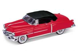 Cadillac  - 1953 red/black - 1:24 - Welly - 22414Hr - welly22414Hr | The Diecast Company