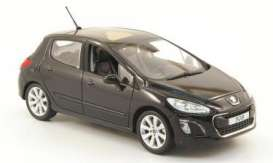 Peugeot  - 2011 black - 1:43 - Norev - 473805 - nor473805 | The Diecast Company