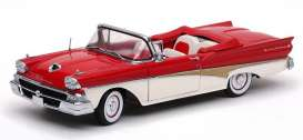 Ford  - 1958 torch red/white - 1:18 - SunStar - 5262 - sun5262 | The Diecast Company