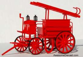 Fire-engine  - 1897 red - 1:43 - Magazine Models - 301100005 - Mag301100005 | The Diecast Company