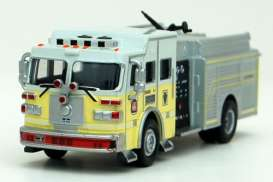 Fire-engine  - 2006 white/yellow - 1:43 - Magazine Models - 301100002 - Mag301100002 | The Diecast Company