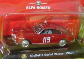 Alfa Romeo  - Giulietta 1959 red - 1:43 - Magazine Models - ALF05 - MagALF05 | The Diecast Company