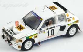 Peugeot  - 1986 white - 1:43 - Spark - s1287 - spas1287 | The Diecast Company