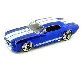 Ford  - 1965 blue w/white stripes - 1:24 - Jada Toys - 90543b - jada90543b | The Diecast Company