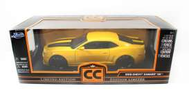 Chevrolet  - 2010 yellow with black stripes - 1:18 - Jada Toys - 96325y - jada96325y | The Diecast Company