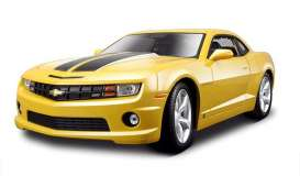 Chevrolet  - Camaro SS/RS 2010 yellow - 1:18 - Maisto - 31173y - mai31173y | The Diecast Company