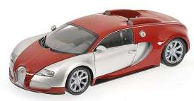 Bugatti  - 2009 chrome/red - 1:18 - Minichamps - 100110851 - mc100110851 | The Diecast Company