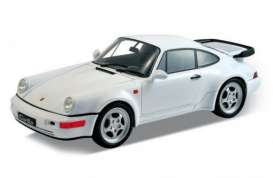 Porsche  - 2009 white - 1:24 - Welly - welly24023w | The Diecast Company