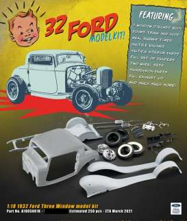 Ford  - 3 window Hot Rod metal kit 1932  - 1:18 - Acme Diecast - 1805001K - Acme1805001K | The Diecast Company