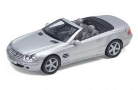 Mercedes Benz  - 2000 silver - 1:24 - Welly - 22437s - welly22437s | The Diecast Company