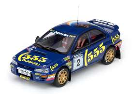Subaru  - 1994 blue/yellow - 1:18 - SunStar - 5502 - sun5502 | The Diecast Company