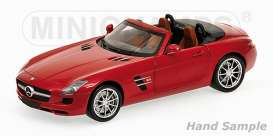 Mercedes Benz  - 2011 red - 1:18 - Minichamps - 100039030 - mc100039030 | The Diecast Company