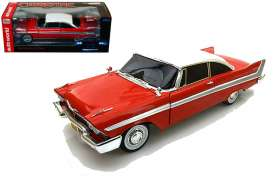 Plymouth  - 1958 red/white - 1:18 - Auto World - AWSS102 | The Diecast Company