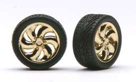 Wheels & tires  - gold - 1:24 - Pegasus - hs1220 - pghs1220 | The Diecast Company