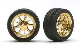 Rims & tires Wheels & tires - gold - 1:24 - Pegasus - hs1228 - pghs1228 | The Diecast Company