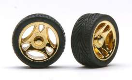 Rims & tires Wheels & tires - gold - 1:24 - Pegasus - hs1232 - pghs1232 | The Diecast Company