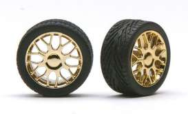 Wheels & tires  - gold - 1:24 - Pegasus - hs1236 - pghs1236 | The Diecast Company