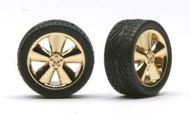 Wheels & tires  - gold - 1:24 - Pegasus - hs1240 - pghs1240 | The Diecast Company