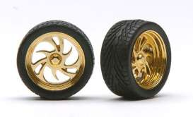 Rims & tires  - gold - 1:24 - Pegasus - hs1248 - pghs1248 | The Diecast Company