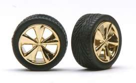 Wheels & tires  - gold - 1:24 - Pegasus - hs1260 - pghs1260 | The Diecast Company