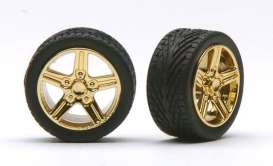 Wheels & tires  - gold - 1:24 - Pegasus - hs1268 - pghs1268 | The Diecast Company