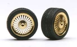 Wheels & tires  - gold - 1:24 - Pegasus - hs1272 - pghs1272 | The Diecast Company