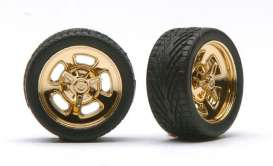 Wheels & tires  - gold - 1:24 - Pegasus - hs1278 - pghs1278 | The Diecast Company
