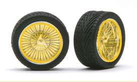 Rims & tires  - gold - 1:24 - Pegasus - hs2299 - pghs2299 | The Diecast Company