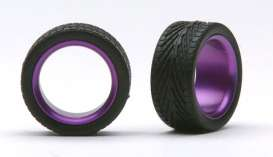 Wheels & tires  - purple - 1:24 - Pegasus - hs2384 - pghs2384 | The Diecast Company