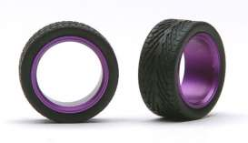 Wheels & tires  - purple - 1:24 - Pegasus - hs2394 - pghs2394 | The Diecast Company